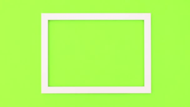 Green screen photo frame stop motion animation