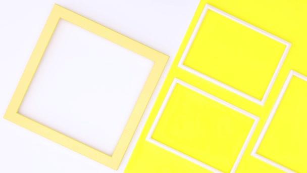Kreative Fotorahmen zum Thema Gelb. Stop-Motion