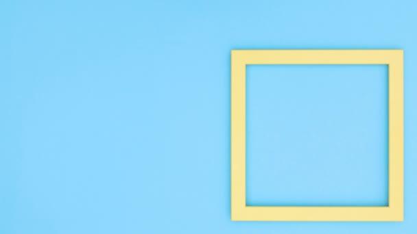 Prázdný snímek na modrý motiv. Zastavit pohyb