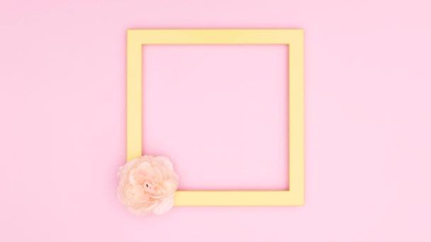 Romantické rámečky na růžové téma. Zastavit pohyb