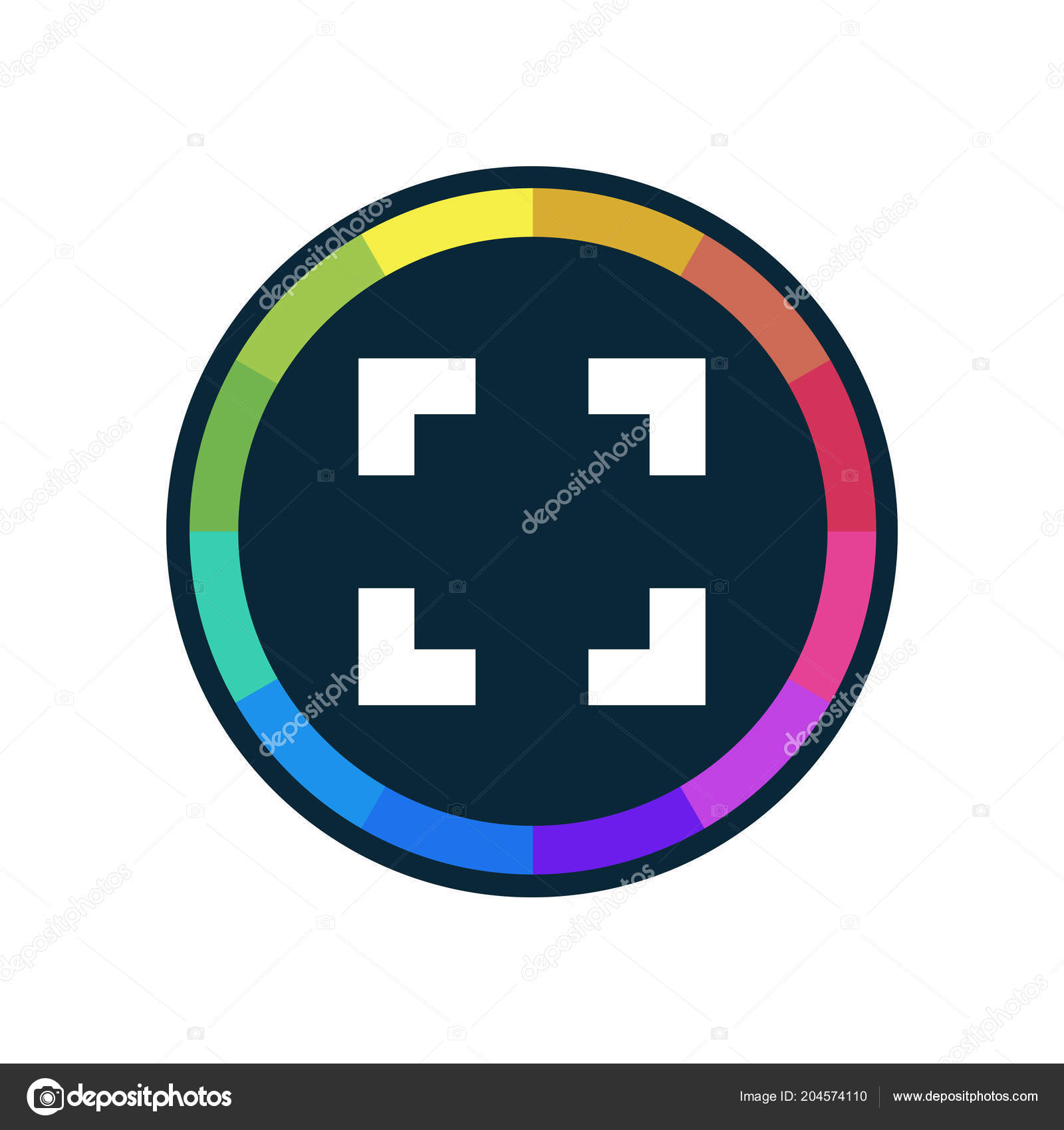 Metering Dark Multi Color App Button — Stock Vector