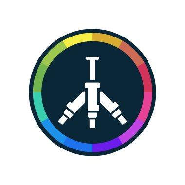 Video Tripod - Dark Multi-Color App Button