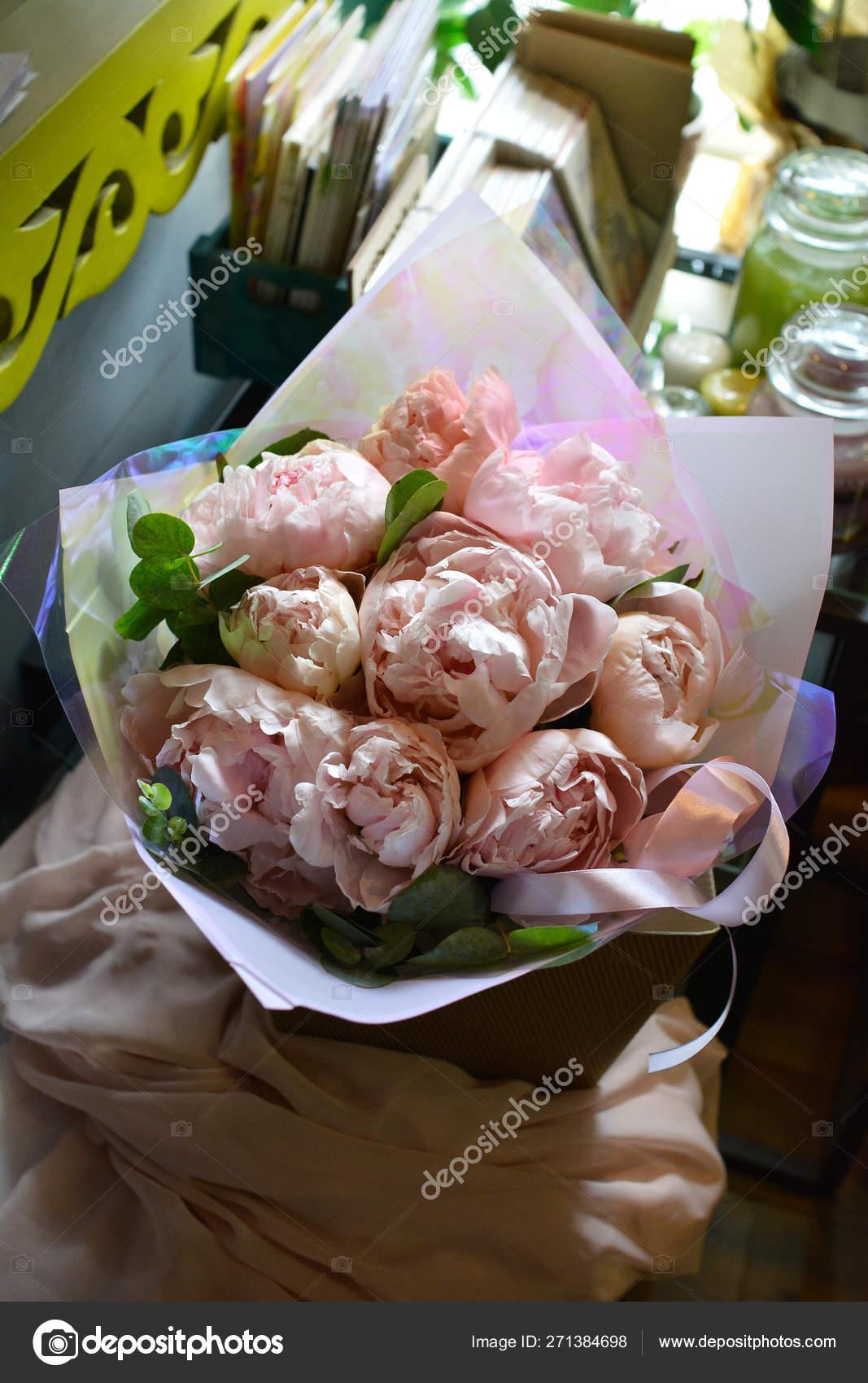 Flower Bouquet Flower Shop Bridal Salon Bouquet Wedding Rose Flower Stock Photo C Plan905 271384698
