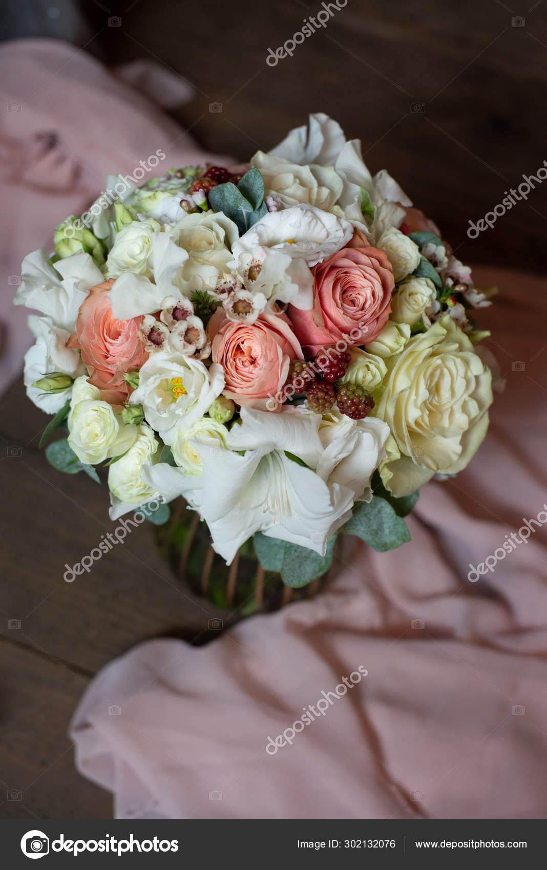 Most Beautiful Bouquet Flowers Anemone Rose Ranunculus Mattiola Tulip Eucalyptus Stock Photo C Plan905 302132076