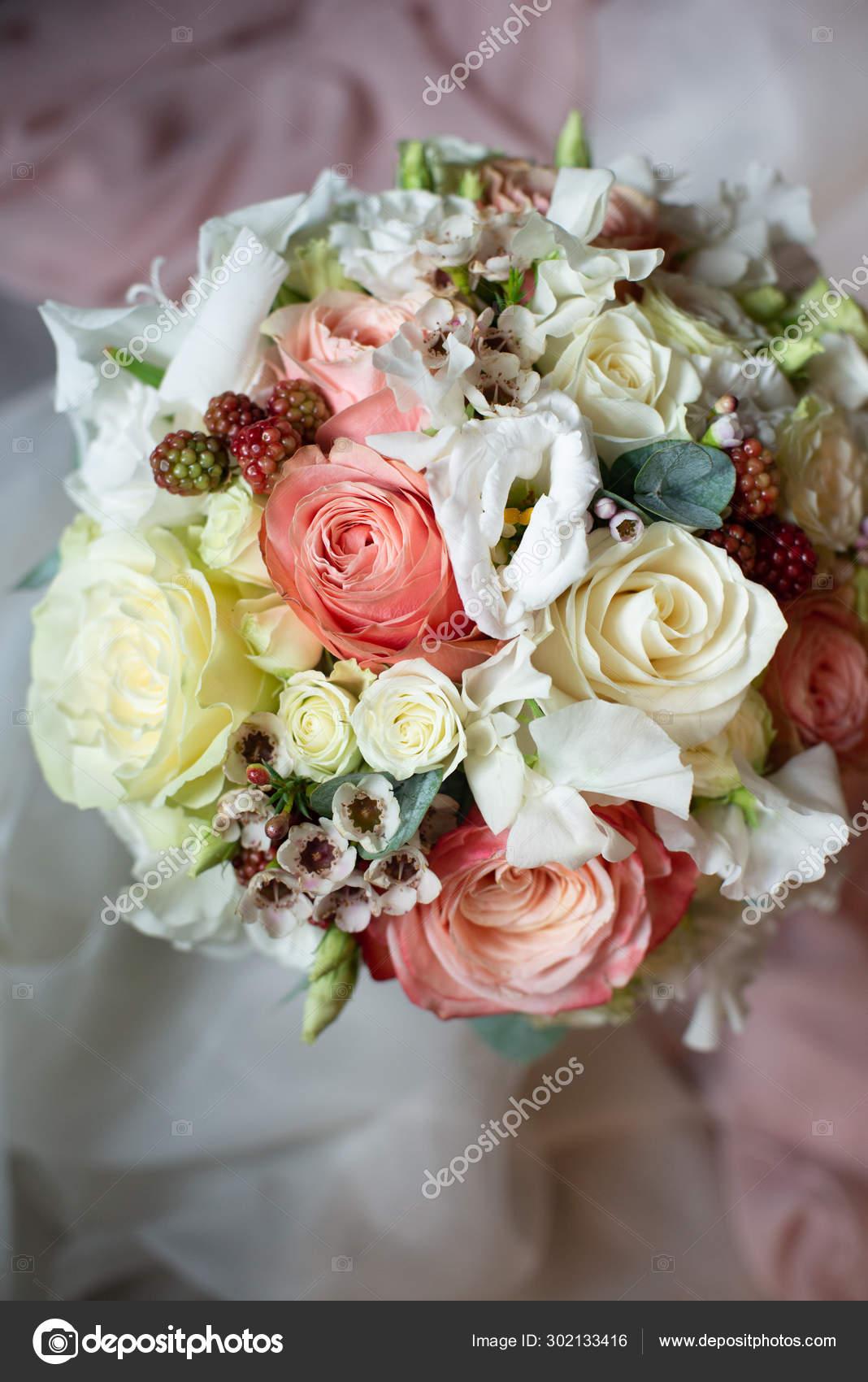 Most Beautiful Bouquet Flowers Anemone Rose Ranunculus Mattiola Tulip Eucalyptus Stock Photo Image By C Plan905 302133416
