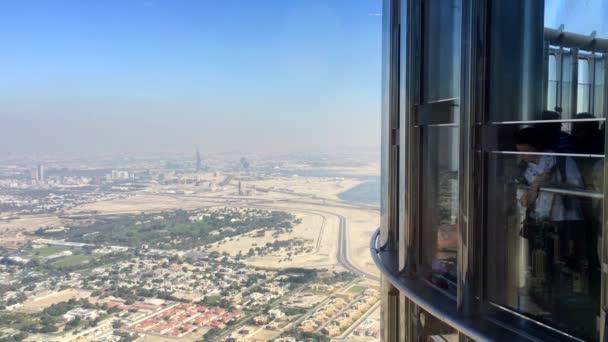 People Viewing Desert in Dubai from the Burj Khalifa