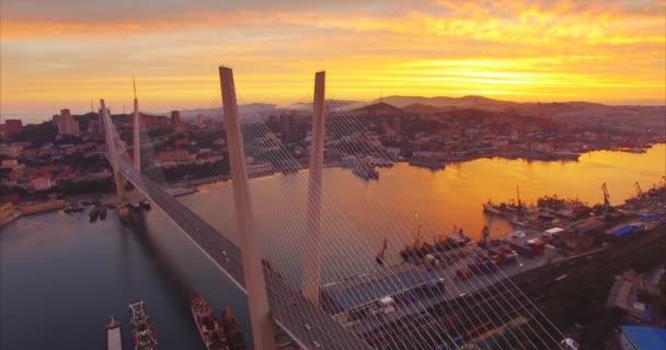VLADIVOSTOK, RUSSIA - 22 JULY, 2017: Aerial view of Vladivostok