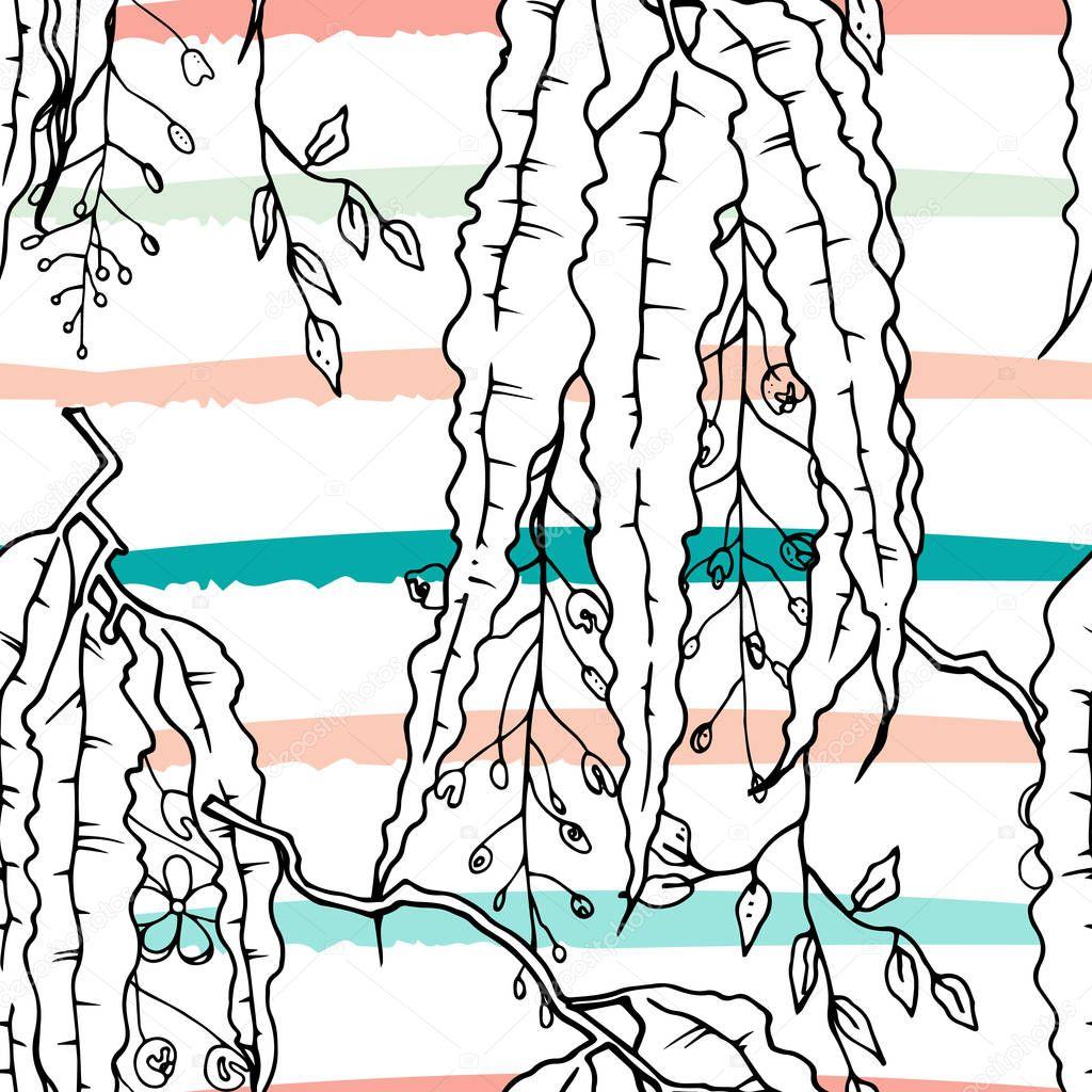Tropical, modern stripes motif