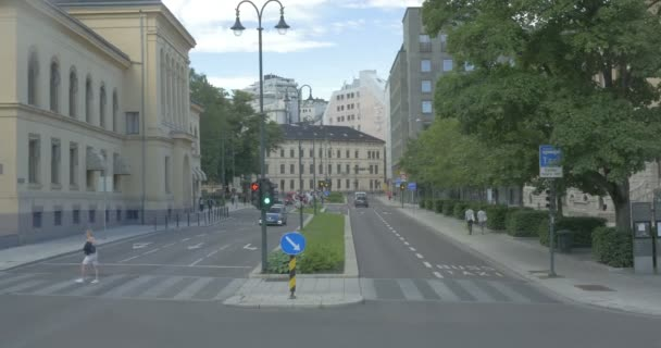 View of street traffic in Oslo City, Norway