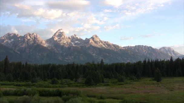Malebný pohled na hory v Grand Teton national park, Usa