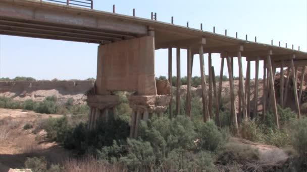 Bleibt der Scheich Abdallah Brücke in der Nähe von Toten Meer, Israel