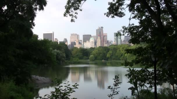 Daylight shot from Central Park lake New York