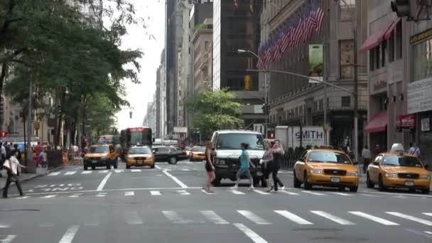 Pohled z automobilové dopravy v New York City, Usa