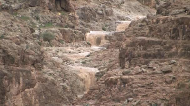 Blick auf die Sturzflut in der Wüste Judäa, Israel