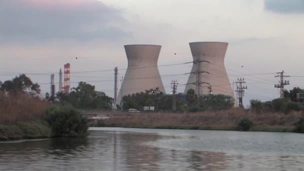 View from Kishon River of Haifa Oil refinery, Israel