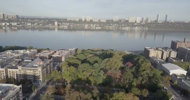 Panoramablick auf Jersey City und Hudson River, New York