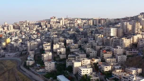 Letecký pohled na uprchlický tábor Anata v Jeruzalémě v červnu 2020