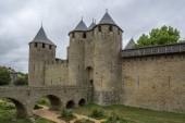 Mura medievali del Castello di Carcassonne, Linguadoca-Rossiglione, Francia