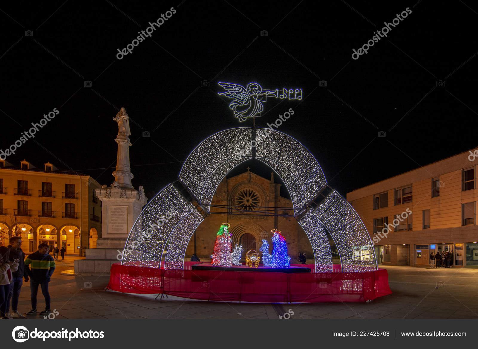 Avila Spain December 2016 Christmas