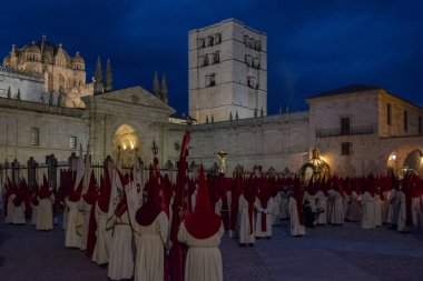 Holy Wednesday Procession in Zamora, Spain
