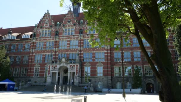 GDANSK, POLAND - MAY 2017: Main building of the University of Technology in Gdansk, Poland