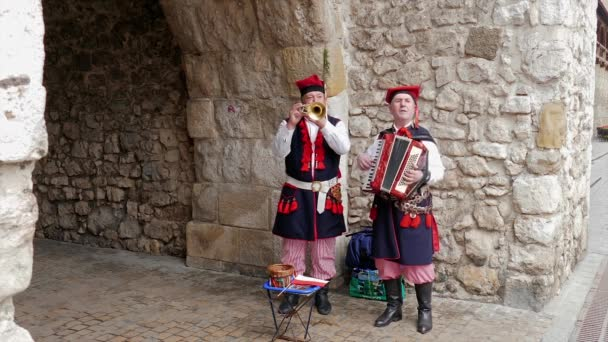 KRAKOW, POLAND - 3 MAY 2017: Krakow, Poland - street folk band playing for tourists in the old town.