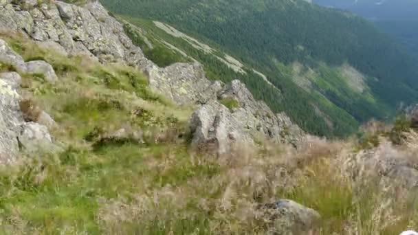 Silný vítr horách