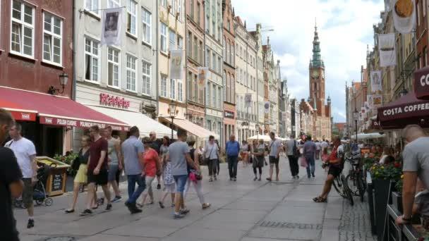 GDANSK, POLAND - JULY 2016: Gdansk, Poland. The main city - old town.