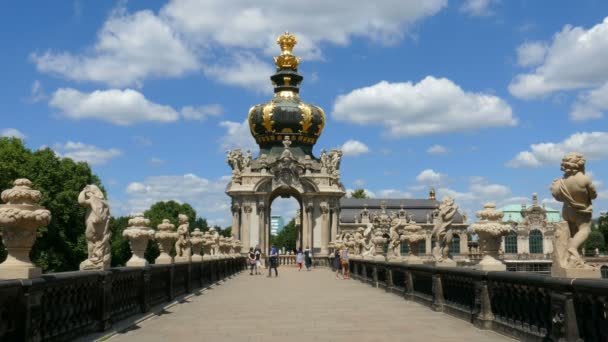 DRESDEN, GERMANY - 20 JULY 2016: Dresden, Germany. Zwinger palace - famous historic building