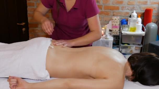 Woman  is receiving massage