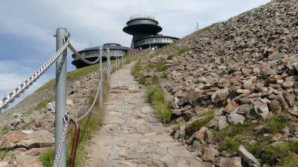 Mountain trail leading to the Sniezka/Snezka mountain. Karkonosze/Krkonose