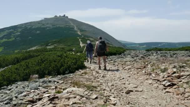 Snezka or Sniezka mountain. Karkonosze, Krkonose National Park