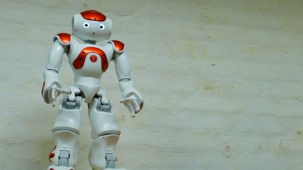 Gdansk, Lengyelország-May 2017: humanoid robot beszél