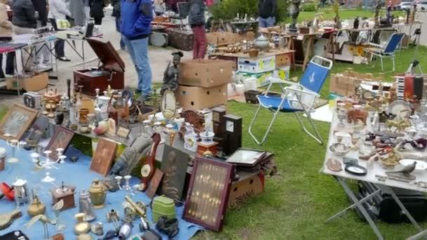 Antique market. Flea market