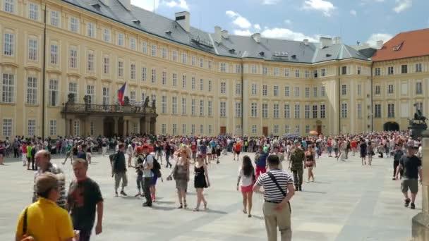 PRAGUE, CZECH REPUBLIC - JULY 2015: Courtyard of Prague Castle. Prague, Czech Republic
