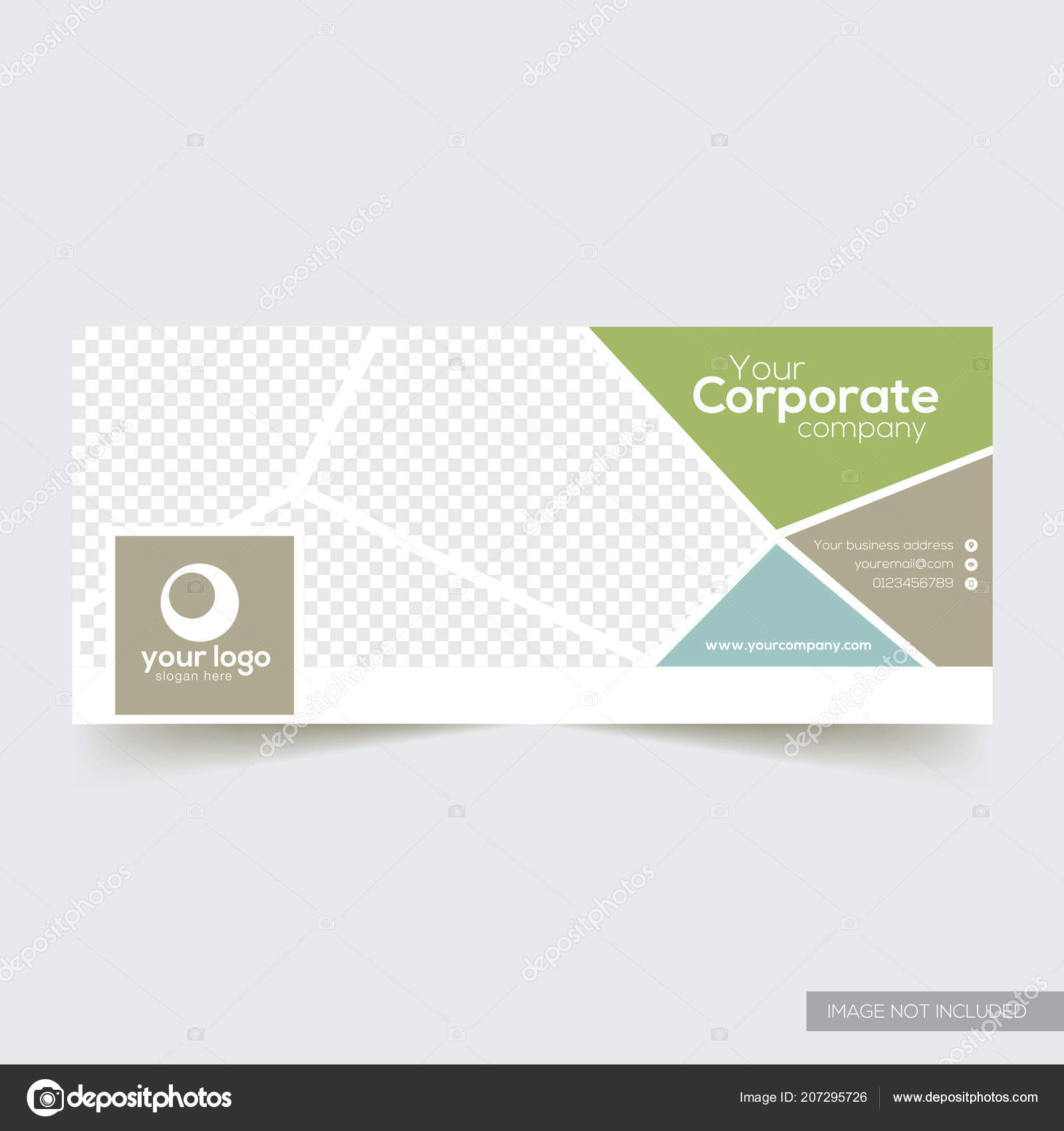Corporate Facebook Timeline Cover Template Image Vectorielle