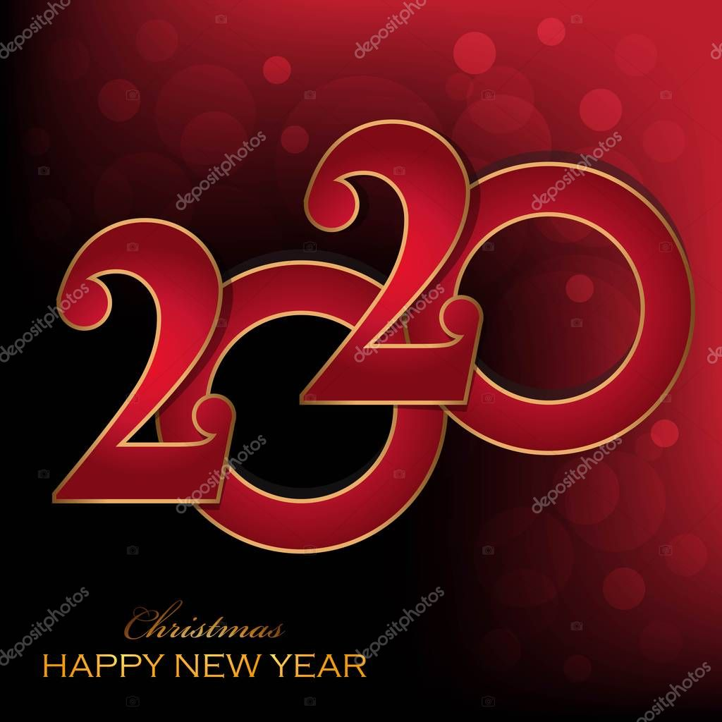 Merry Christmas And Happy New Year 2020-2022 ✅ Merry Christmas Happy NEW Year 2020 greeting card illustration