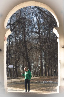 Early sp ring in Moscow park