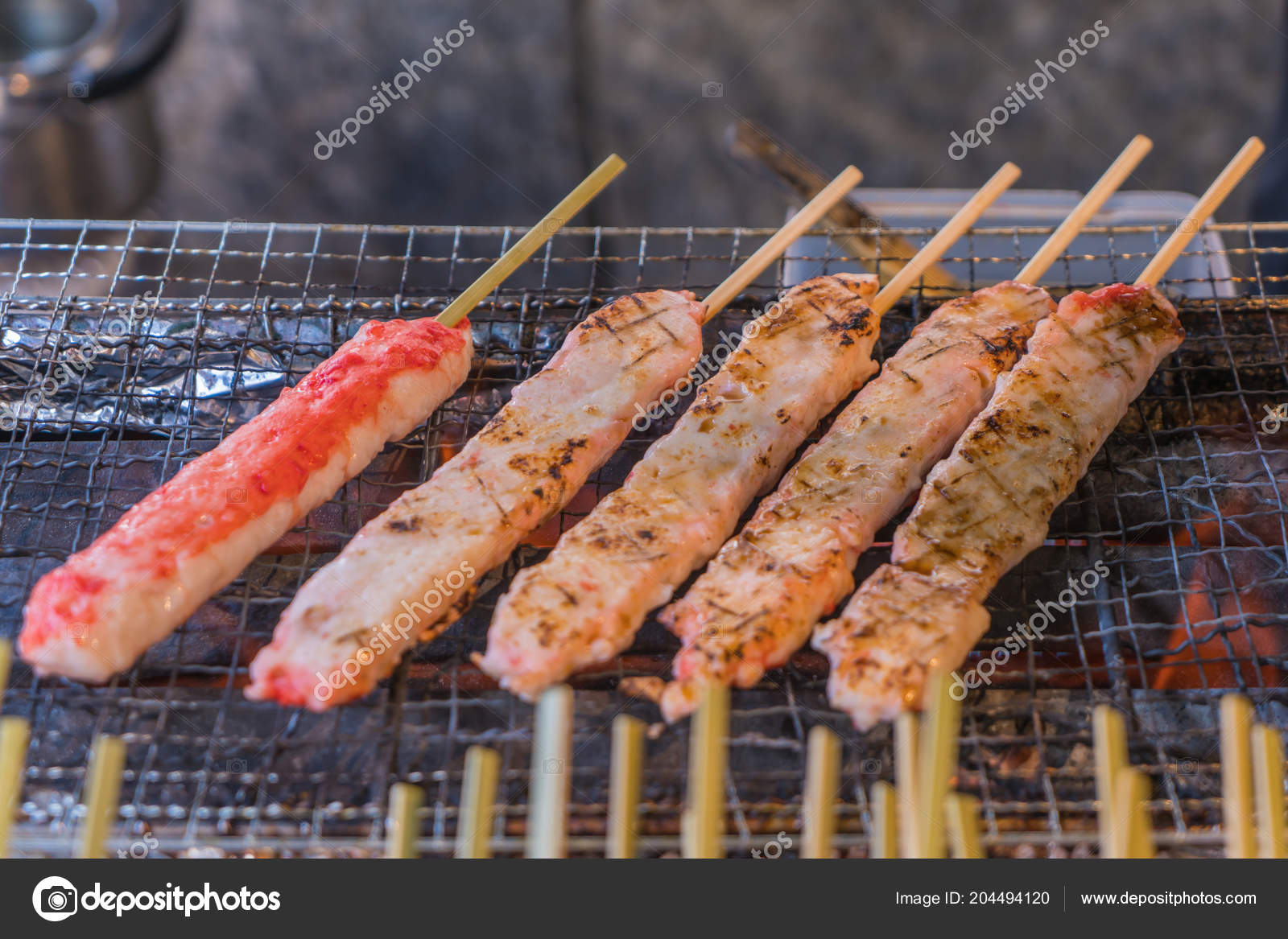 King Crab Meat Chacoal Grilled Japanese ...