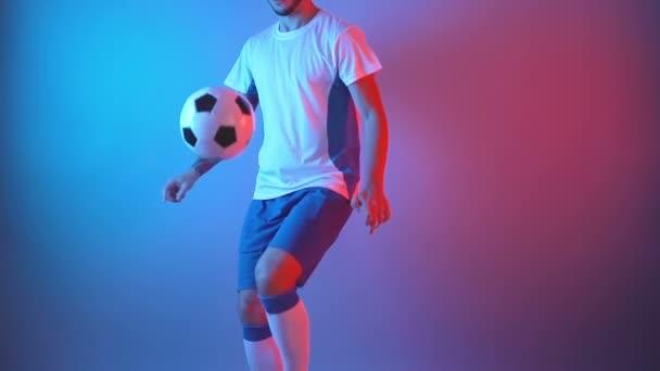 soccer player skill training in studio