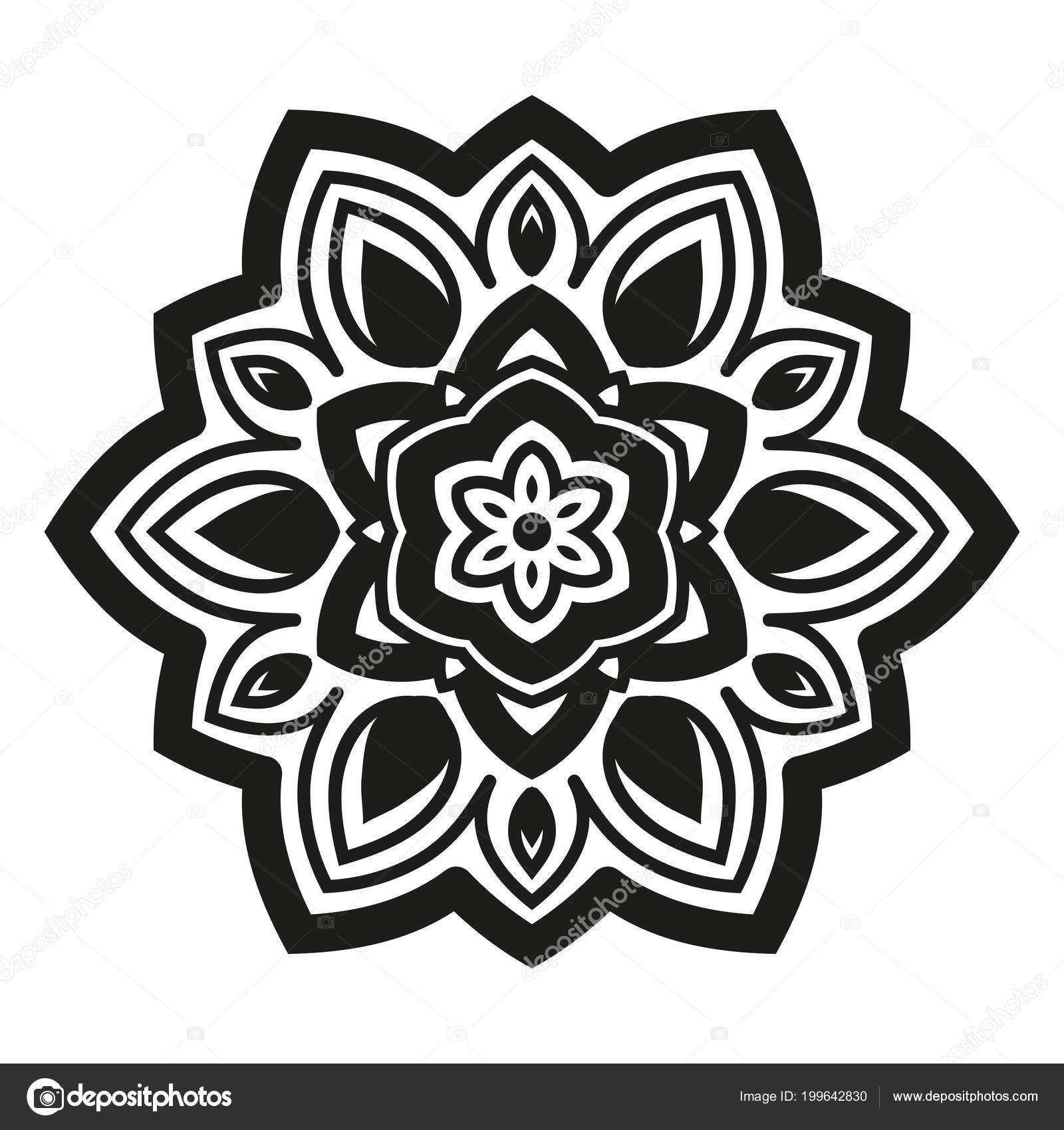 Arabesques Black White Color Template Engraving Embroidery Burning ...