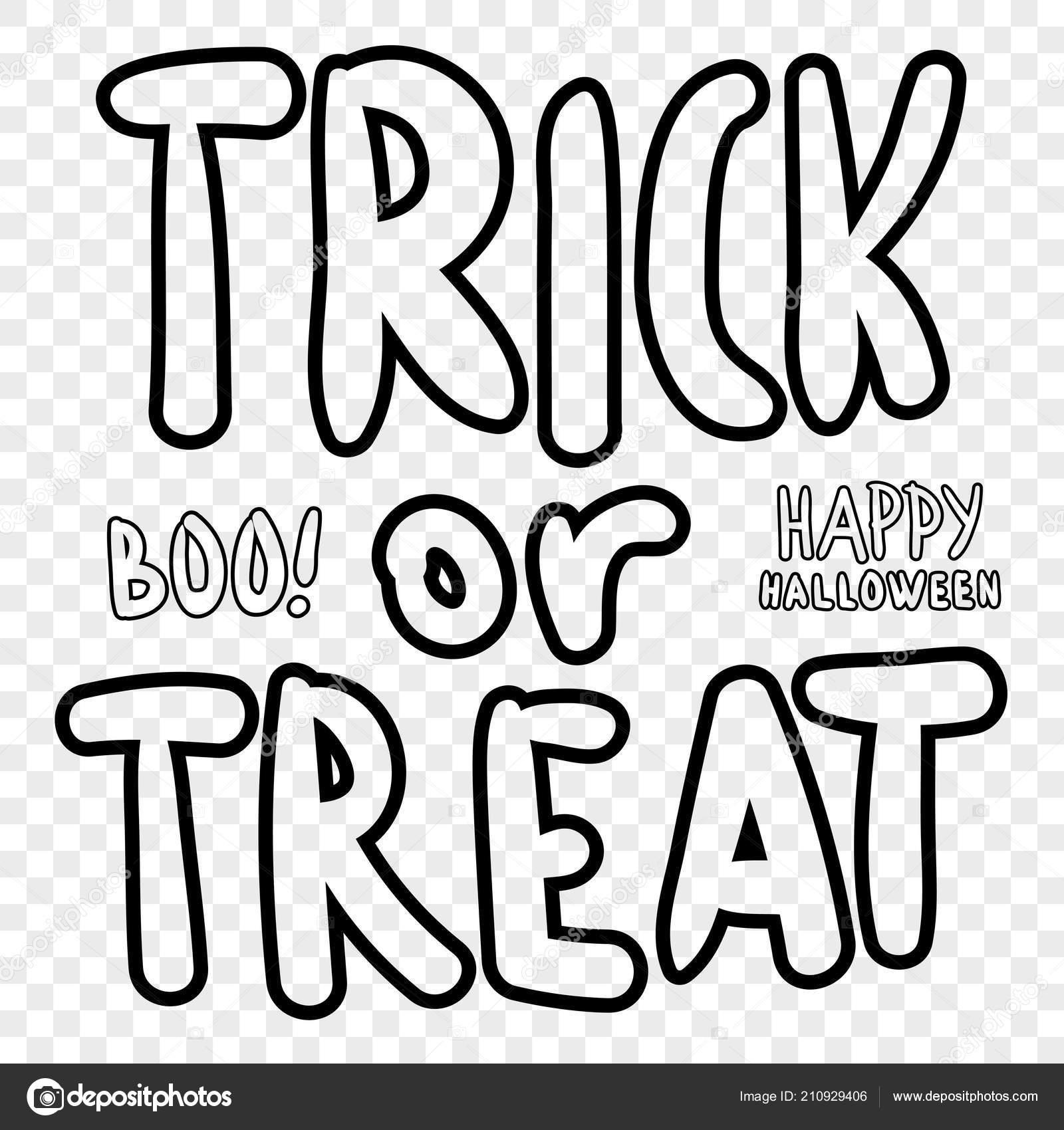 Trick Treat Halloween Digital Stamp Laser Cutting Templates ...