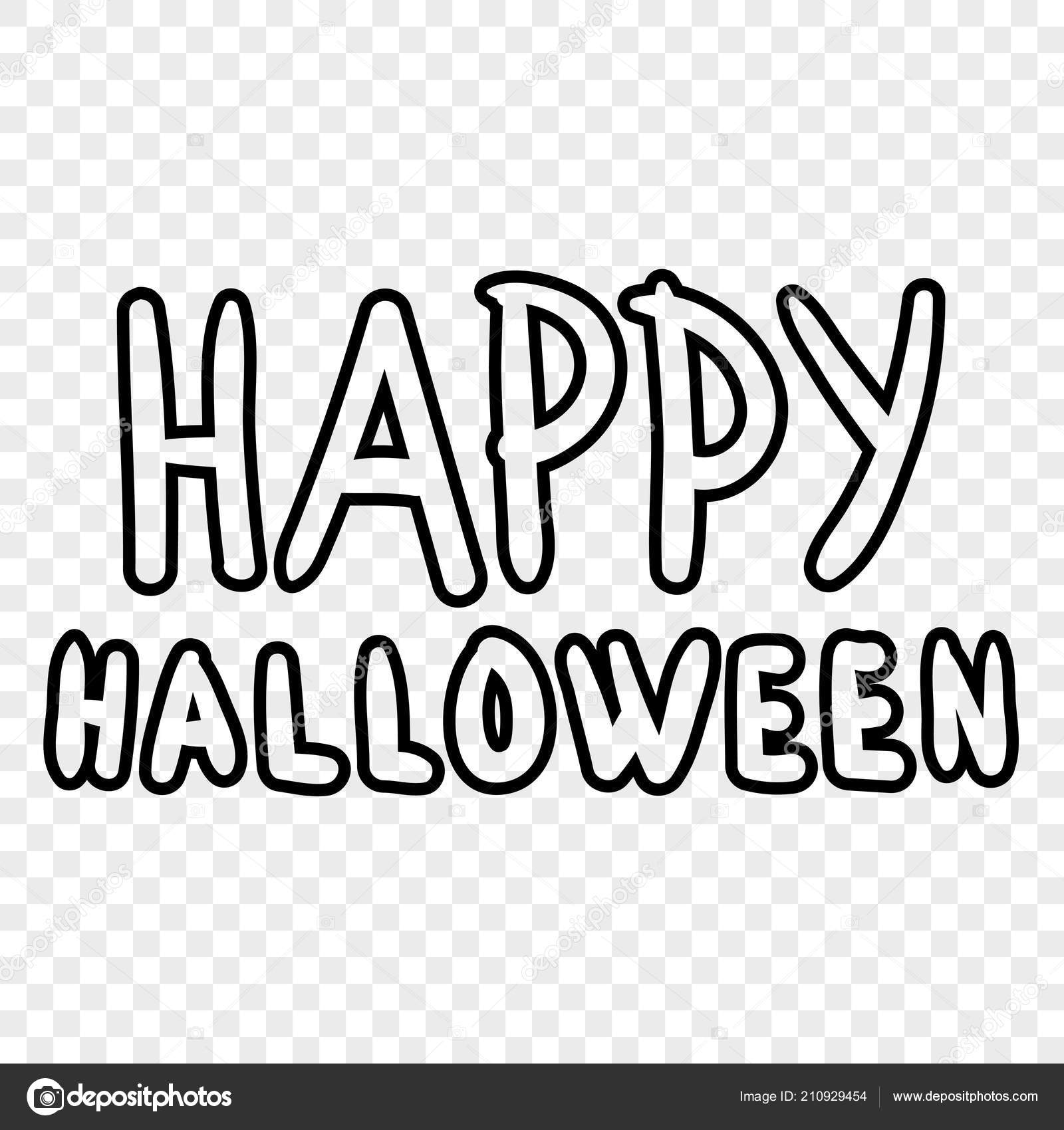 Happy Halloween Digital Stamp Laser Cutting Templates Inscriptions ...