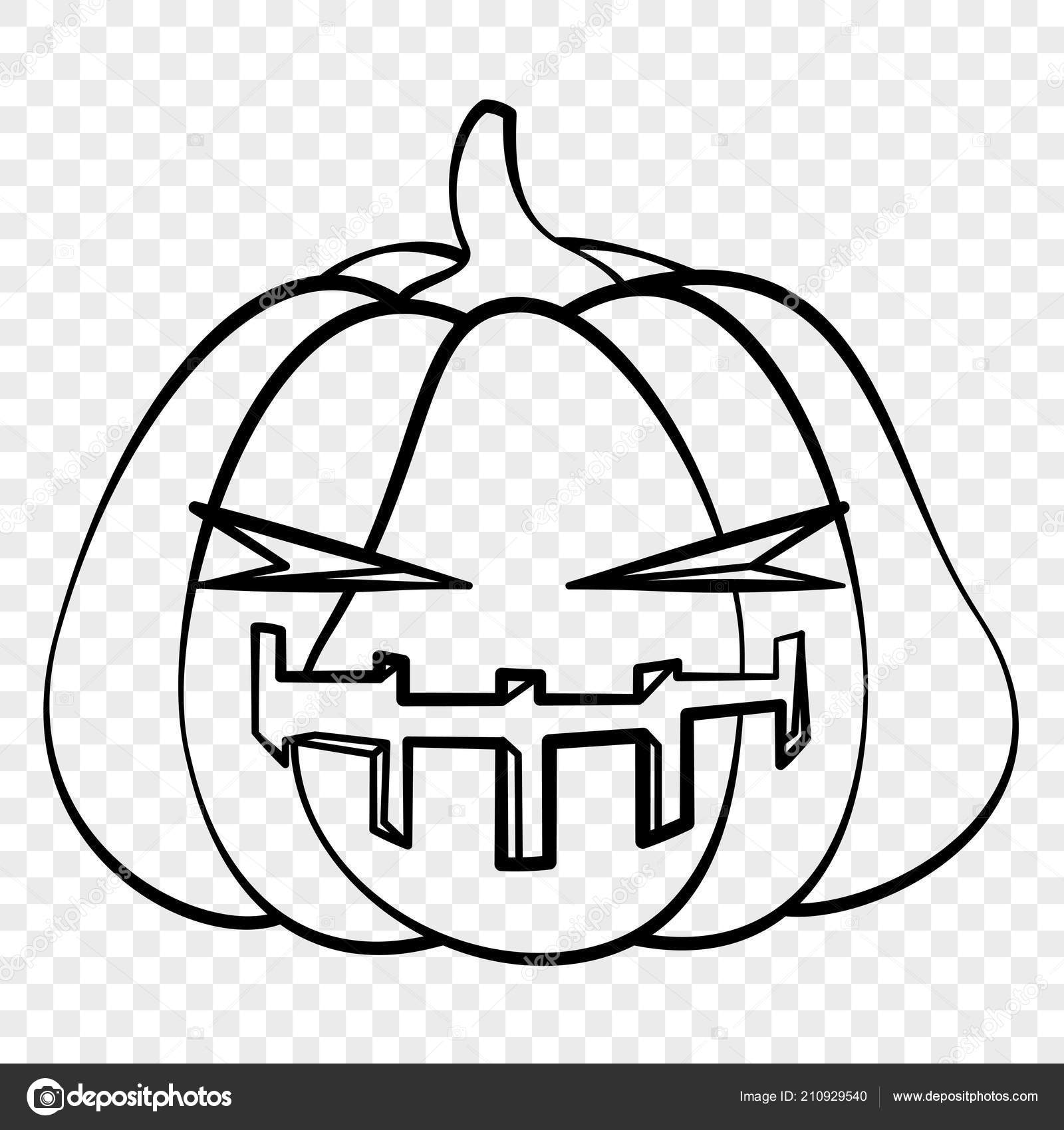 Contour émotion Citrouille Halloween Visage Mal Dessin Pour