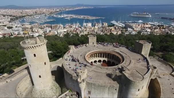 Bellver Castle - Palma de Mallorca - Spain Aerial view of famous Bellver Castle, at the city of Palma on the Island of Majorca, Balearic Islands,