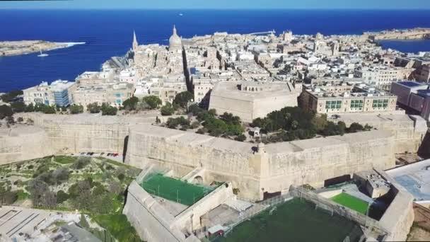 Malta Capital Valletta Historical Center Valletta Aerial View