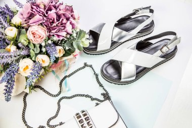 Women's sandals and handbags for girls