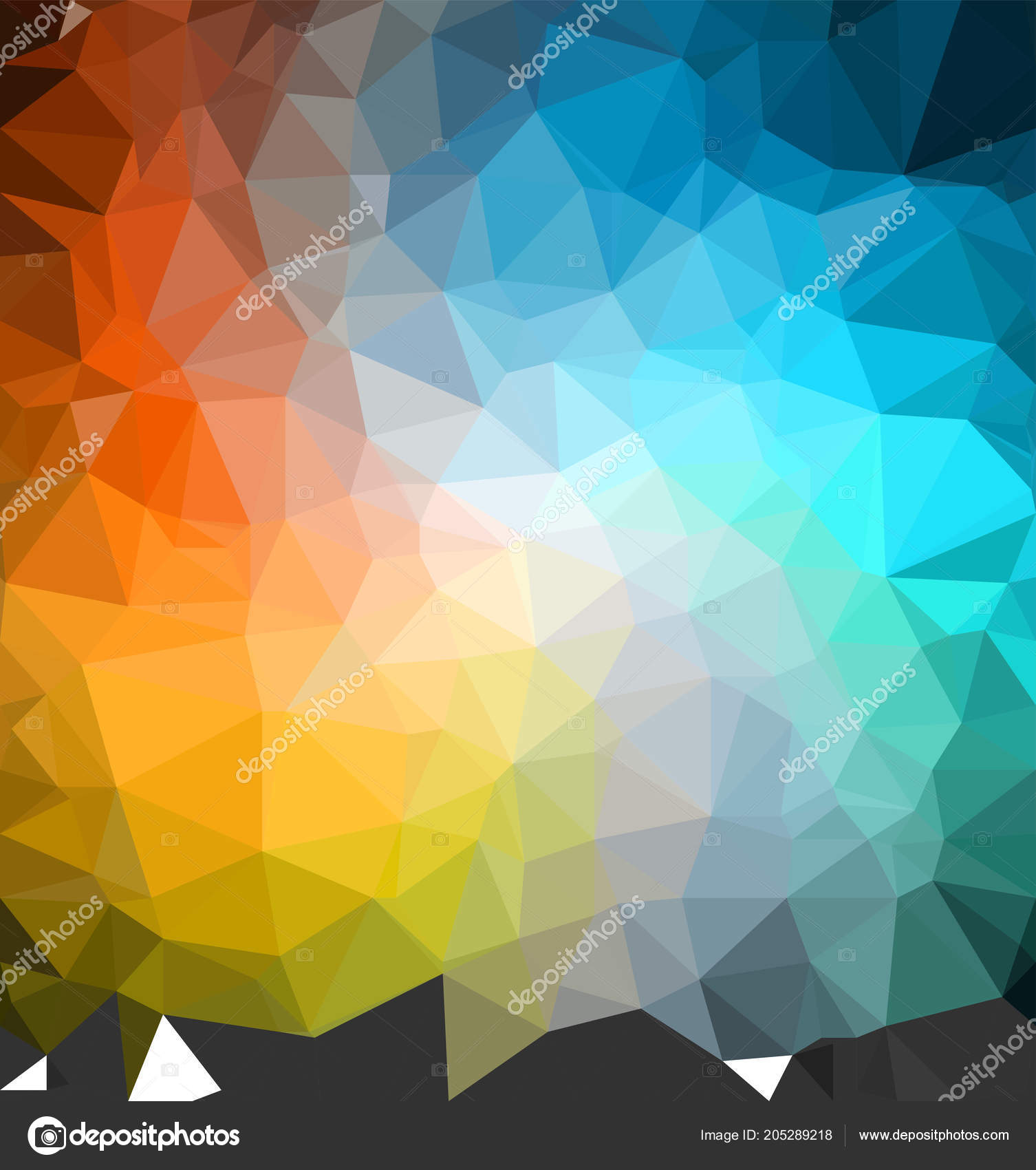Colorful Cool Backgrounds Colorful Cool Background Banner Triangulation Pattern Stock Vector C Sergantstar 205289218