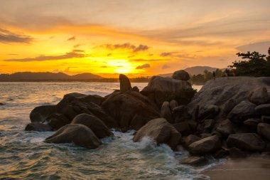 Sunset Rock Hin Ta and Hin Yai from Thailand Island of Koh Samui