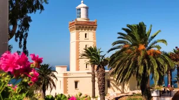 4 k záběry z krásné maják Cap Spartel, Tanger, Maroko v Africe